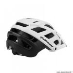 Casque VTT marque Polisport e3 taille 55/58 couleur blanc/noir mat in-mold avec réglage occipital
