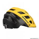 Casque VTT marque Polisport e3 taille 55/58 couleur jaune/noir mat in-mold avec réglage occipital