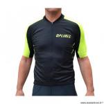 Maillot marque Optimiz mc couleur noir/jaune fluo taille xxl
