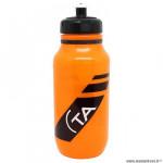 Bidon vélo marque Spécialités TA pro couleur orange translucide 600ml à visser