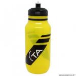 Bidon vélo marque Spécialités TA pro couleur jaune translucide 600ml à visser