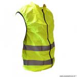 Gilet de sécurité couleur jaune fluo vélo réfléchissant fermeture et poche arr. adulte en 1150