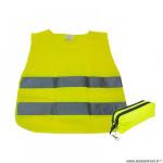 Gilet de sécurité couleur jaune fluo vélo avec bande réfléchissant et housse enfant en 1150