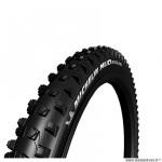 Pneu VTT 27.5x2.25 tringle souple marque Michelin mud enduro magix tubeless ready couleur noir (55-584)