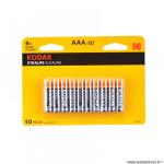 Pile alcaline 1.5v lr03 aaa marque Kodak xtralife alkaline (x10)