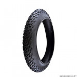 Pneu VTT 20x4.00 tringle rigide fat bike couleur noir 33 tpi (102-406)
