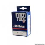 Chambre à air poussette/trottinette 8x1 1/4 valve schrader marque Mitas (32-137) valve 37mm coudee 45°