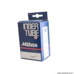 Chambre à air poussette/trottinette 7x1 3/4 ou 8x2 valve schrader marque Mitas (47-93) valve coudee 90°x17.5