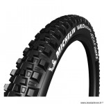 Pneu VTT 29x2.40 tringle souple marque Michelin wild enduro rear gumxtubeless ready couleur noir (61-584)