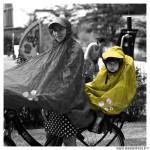 Poncho protection pluie spad fulap junior couleur jaune taille unique
