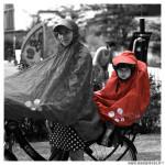Poncho protection pluie spad fulap junior couleur rouge taille unique