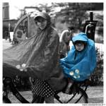 Poncho protection pluie spad fulap junior couleur bleu taille unique