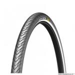 Pneu VTT 26x1.40 marque Michelin city protek max tringle rigide couleur noir flanc réfléchissant (35-559)