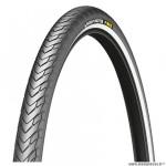 Pneu tradi 27x1 1/4 marque Michelin protek tringle rigide couleur noir flanc réfléchissant (32-630)