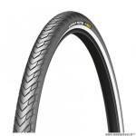 Pneu VTC 700x32 tringle rigide marque Michelin protek max flanc réfléchissant couleur noir (32-622)