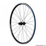 Roue vélo route 700 arrière blocage k7 jante couleur noir marque Shimano rs100 moyeu marque Shimano 10/11v