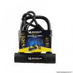 Antivol vélo U 105x170mm marque Michelin avec cable à boucles diamètre 10x1.00m et support