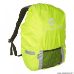Housse de protection sac à dos marque M-Wave fluo avec poche rangement