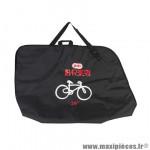 Housse de transport vélo toile couleur noir avec 2 poches pour roues (lg150xl20xh108) - 320l