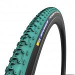 Pneu cyclocross 700x33 marque Michelin cyclocross jet couleur vert 360g ts