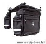 Sacoche arrière triple pour porte bagage 40x38x43 cm 64 litres marque Leader- Equipement cycle