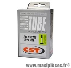 Chambre à air dimensions 700 x 18/25 98 grammes presta (valve 48mm) marque CST - Pièce vélo