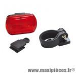 Eclairage arrière 4 fonctions 3 leds - Accessoire Vélo Pas Cher