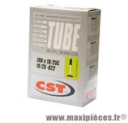 Chambre à air dimensions 700 x 18/25 presta 98 grammes marque CST - Pièce vélo