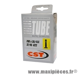 Chambre à air dimensions 700 x 35/42 standard 155 grammes marque CST - Pièce vélo
