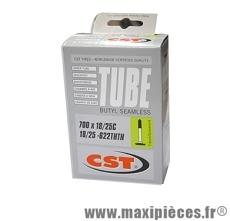 Chambre à air dimensions 700 x 18/25 superlight presta 85 grammes (valve 36mm) marque CST - Pièce vélo