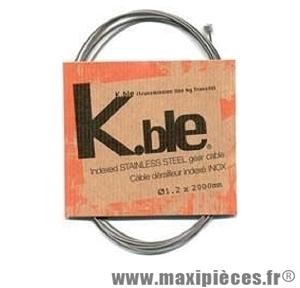 Câble dérailleur vélo galva 1,80m (boite de 25) marque KBLE - Pièce vélo