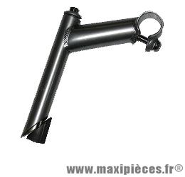 Potence VTT acier argent diamètre 22,2mm - Accessoire Vélo Pas Cher