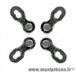 Attache rapide 11 vitesses argent (x2) marque KMC - Matériel pour Vélo