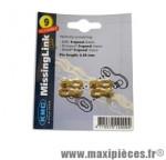 Attache rapide 9 vitesses or marque KMC - Matériel pour Vélo