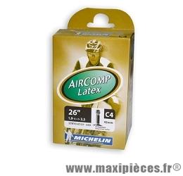 Chambre à air de 26 pouces x 1,70/2,20 c4 latex standard marque Michelin - Pièce vélo