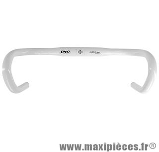 Cintre route uno alu blanc diamètre 31,8mm (taille 40) marque Leader - Pièce vélo