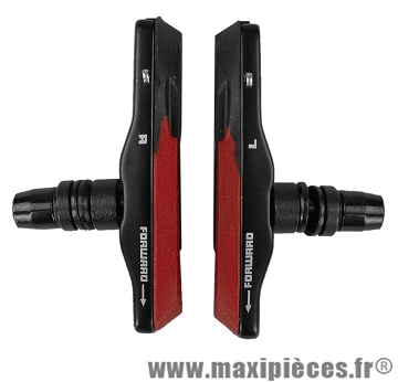 Porte patins VTT v-brake 72mm noir/rouge support alu (la paire) marque Baradine - Accessoire vélo