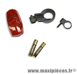 Eclairage arrière compact rear flash (livre avec piles) marque Spanninga - Matériel pour Vélo