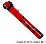 Mini pompe fit tele r (route) 7 bars vs/vp diamètre 20mm rouge marque Airace - Accessoire vélo