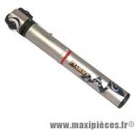 Mini pompe fit tele r (route) 7 bars vs/vp diamètre 20mm argent marque Airace - Accessoire vélo