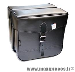 Sacoche s14 rectangle 1 fermeture noir 30x30x11 cm (la paire) marque Sporfabric- Equipement cycle