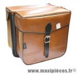 Sacoche s14 rectangle 1 fermeture marron 30x30x11 cm (la paire) marque Sporfabric- Equipement cycle