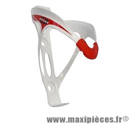 Porte bidon velo blanc / rouge marque Oktos - Accessoire vélo pas cher