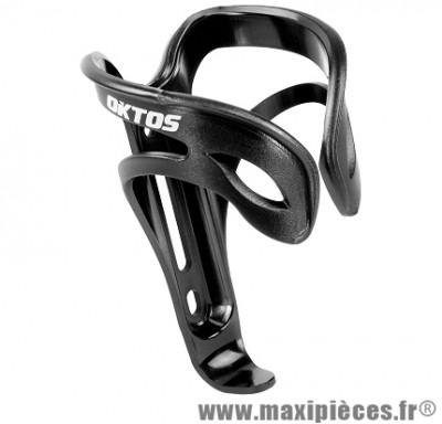 Porte bidon plastique noir marque Oktos - Accessoire vélo