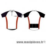 Maillot manches courtes blanc/noir xxl marque Oktos- Equipement cycle