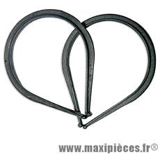Pince pantalon résine (la paire) marque Vélox - Accessoire vélo