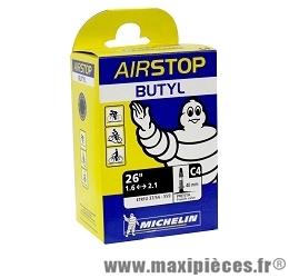Chambre à air de 26 pouces x 1,45/2,60 c4 presta (26-8m) marque Michelin - Pièce vélo