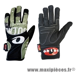 Gants de vélo BMX longs otkos design vert m marque Oktos- Equipement cycle