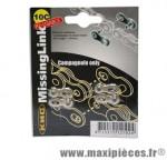Attache rapide 10 vitesses compatible campagnolo (x2) marque KMC - Matériel pour Vélo
