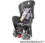 Porte bébé arrière bilby noir gris fixation sur cadre marque Polisport - Accessoire vélo